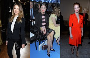paris fashion week 2013 jessica alba olivia palermo jessica chastain