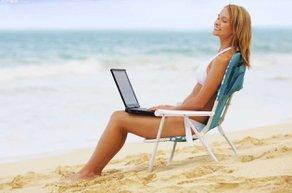 tatil plaj bilgisayar