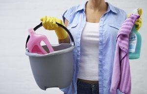 temizlik ev kadin kova bez