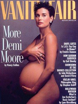 Dergi kapakları için soyunan ünlü hamileler kim? demi moore nude 2