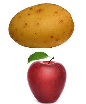 Eşiniz patates mi elma mı? patates elma 1