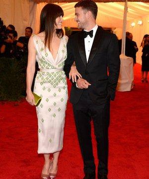 2012'nin en iyi giyinen çiftleri Jessica Biel Justin 1