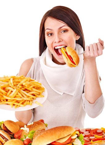 asiri yeme fast food hamburger patates