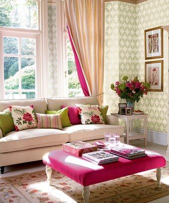 Ev dekorasyonunda stiliniz ne? dekorasyon pembe salon 1