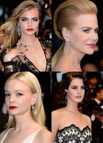 Cannes Film Festivali kırmızı halı saç ve makyajları 2013 cannes unlu 1