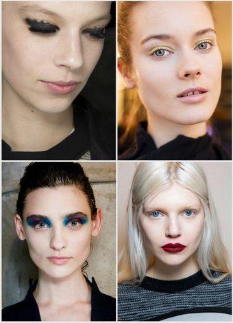 2014-2015 Sonbahar-Kış makyaj trendleri kolaj 2014 2015 1