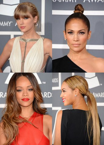 Grammy Ödülleri'nin en iyi saç ve makyajları 2013 grammy 1