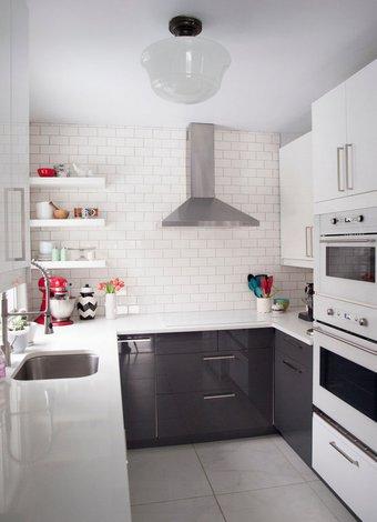 Küçük mutfaklar için dekorasyon önerileri 9 kucuk mutfaklar 1
