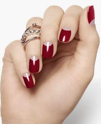 2014 Baharının manikür trendleri moon manicure trend 2