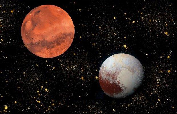 5 Kasım 2019 Mars - Plüton karesi