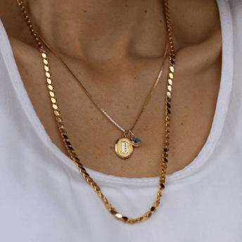 Reis kuyumculuk harf kolye metrelik altın zincir