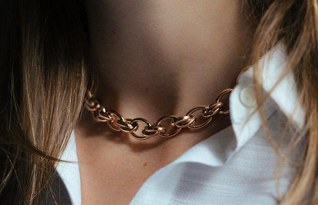 Padme Designs kalın altın zincir kolye