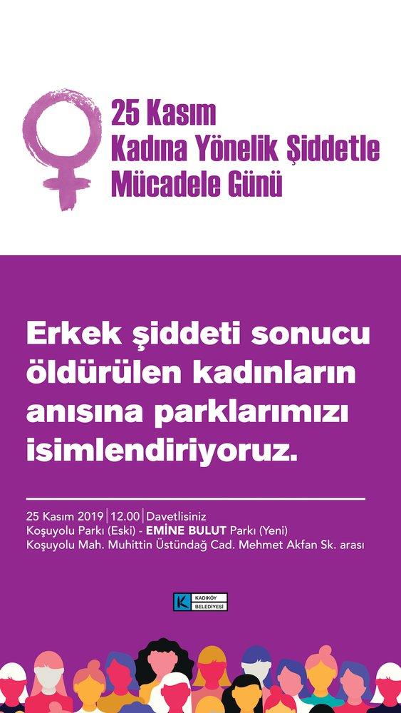 25 Kasım kadına şiddete karşı uluslararası mücadele günü
