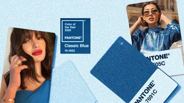 Pantone klasik mavi kombin