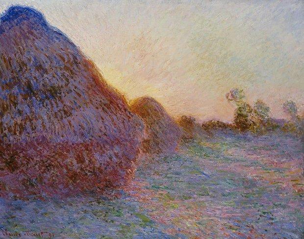 Saman Yığınları, Monet