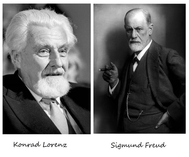 Konrad Lorenz & Sigmund Freud