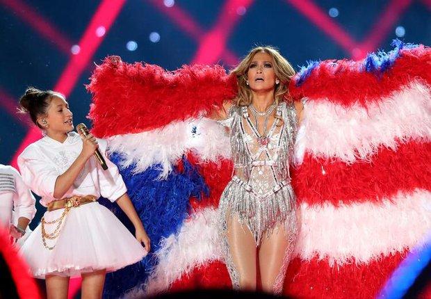 Jennifer Lopez super bowl kostümü