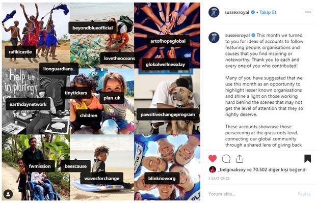 Global Wellness Day, İngiliz Kraliyet Ailesi hesabında paylaşıldı