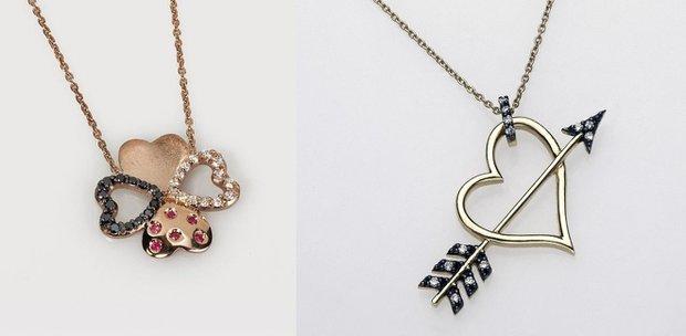 Ayşe Rodoslu tasarımı Sevgililer Günü kolyeleri