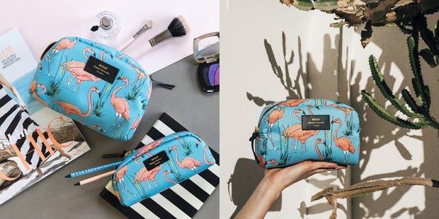 Wouf Pembe Flamingo Desenli Çantalar