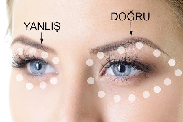 Göz çevresi kremleri nasıl sürülmeli?