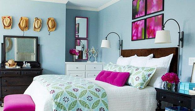 Enerjik yatak odası dekorasyonu