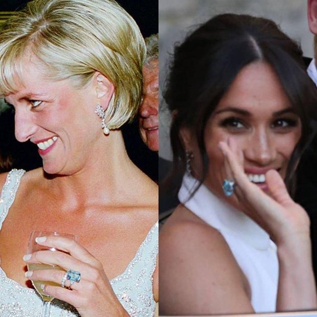 Lady Diana & Meghan Markle'ın mavi taşlı yüzüğü