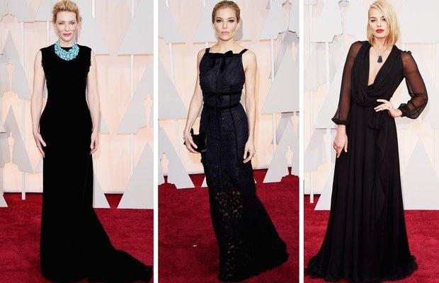 siyah 2015 oscar en iyi guzel elbise kirmizi hali
