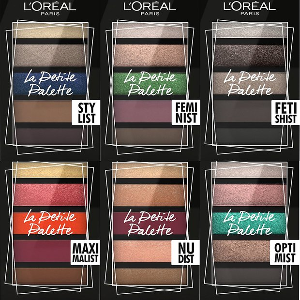 L'Oréal Paris Mini Palette seçenekleri 5 farklı renk 52,99TL