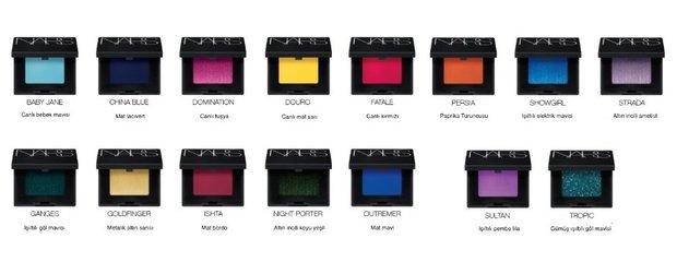 NARS Tekli Göz Farları Pop Renkler 150TL