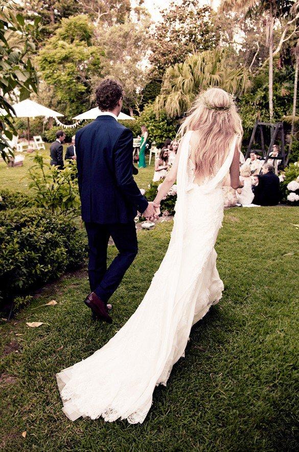 Bahçede düğün-nikah