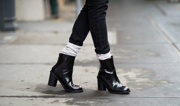 Ankle botlarla sonbahar-kış stili
