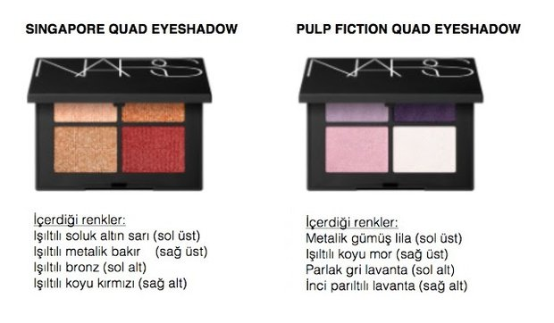 NARS Fall Quad Eyeshadow 4'lü göz farları