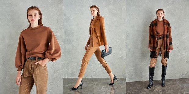 New Casual kahverengi stil