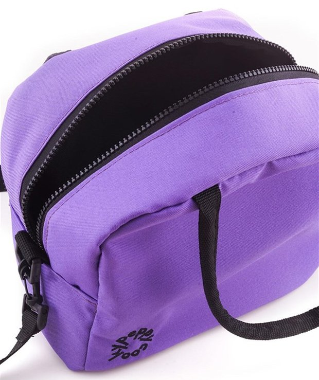 Lila rengi termal beslenme çantası