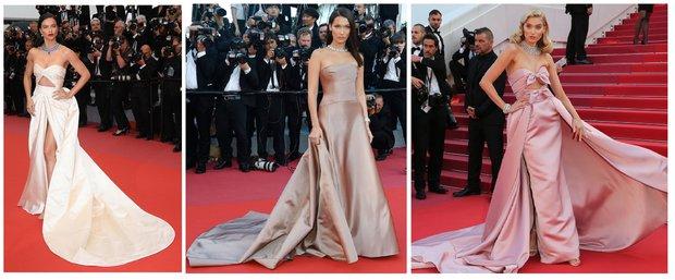 Cannes Film Festivali'nde kırmızı halıdaki modeller