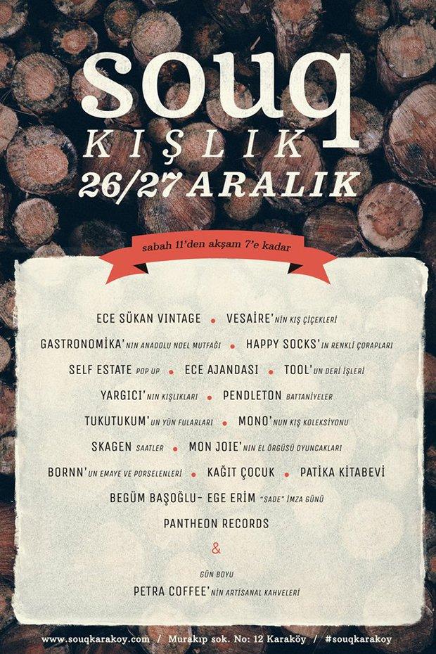 Souq Kışlık 26/27 Aralık'ta Karaköy'de