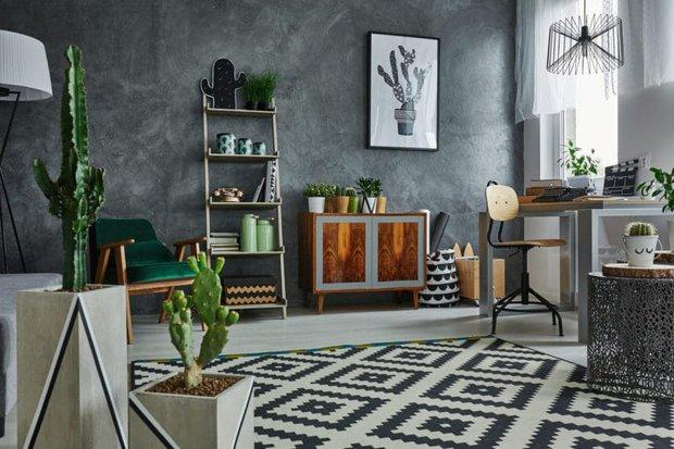 Yazlık ev dekorasyon trendleri geometrik desenler