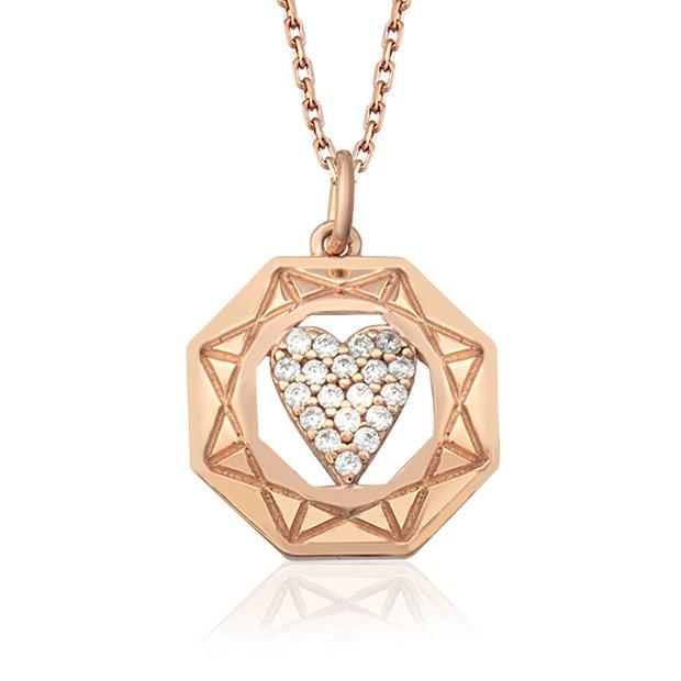 So Chic Sevgililer Günü kalp kolye - gümüş