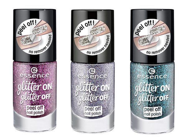 essence'in yeni ojesi glitter on glitter off peel off nail polish