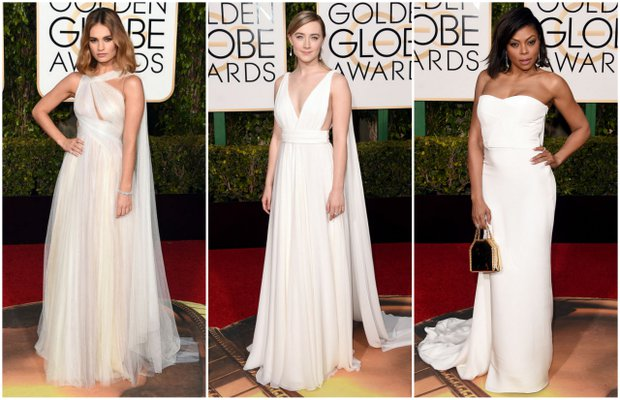 Lily James; Marchesa, Alicia Vikander; Louis Vuitton, Taraji P. Henson; Stella McCartney