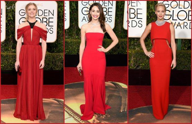 Natalie Dormer; J.Mendel, Emmy Rossum; Armani Prive,Jennifer Lawrence; Dior Haute Couture