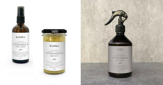 Radika Aromaterapi Citronella Doğal Sinek & Böcek Kovucu seri
