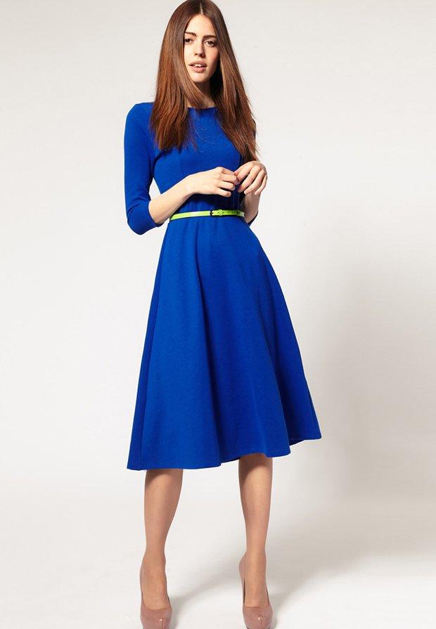 sarah jessica parker asos mavi elbise moda unlu stil ilham nyfw