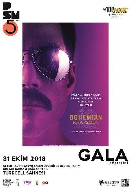 Bohemian Rhapsody film gösterimi Zorlu PSM