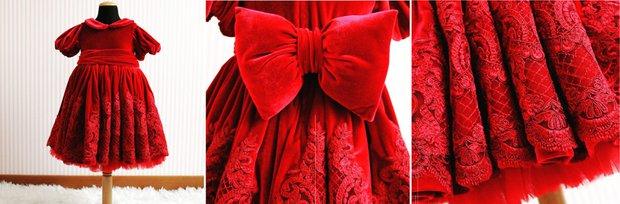 PNR Baby & Kids - Koyu Kırmızı Kız Çocuğu Elbisesi