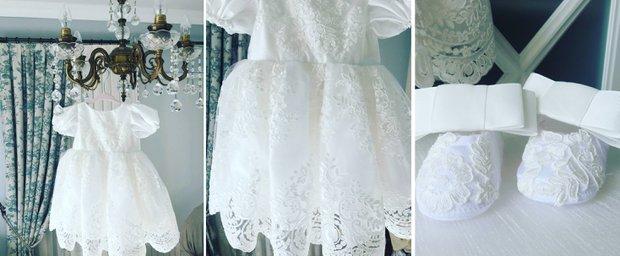 PNR Baby & Kids - kız çocukları için beyaz elbise