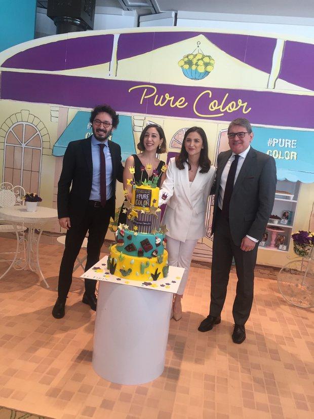 Pure Color lansman pastası