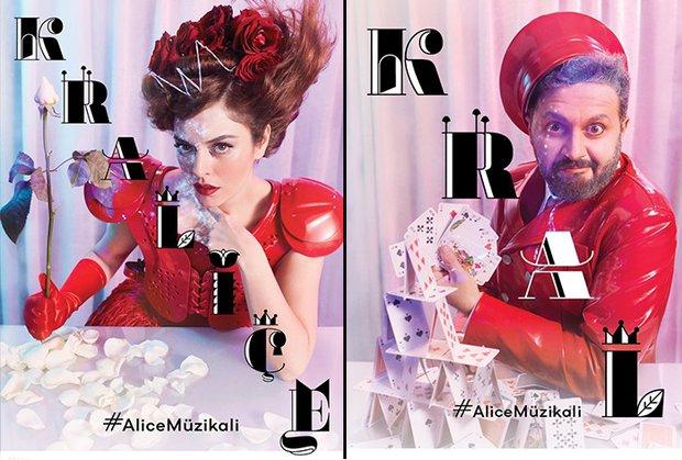 Kraliçe ve Kral (Ezgi Mola ve İbrahim Selim) Alice Müzikali