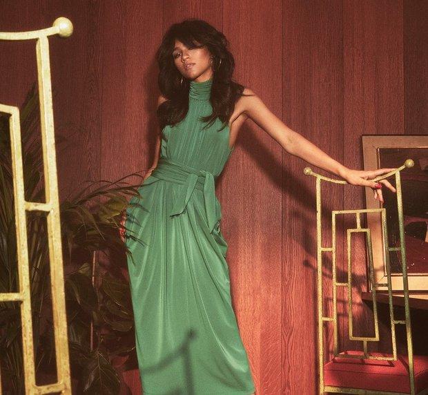 Tommy X Zendaya Koleksiyonu - Yeşil Elbise